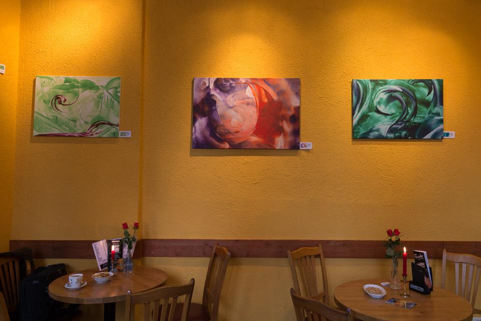 """Ausstellung """"Seelenbilder"""" im Café Fiasko 2012-2013"""